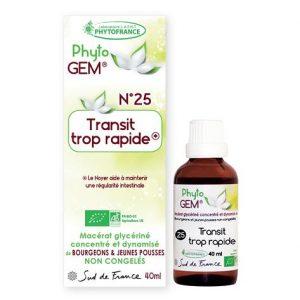 transit trop rapide - phytogem - gemmotherapie - phytofrance