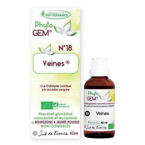 veines - phytogem - gemmotherapie - phytofrance